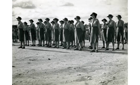 AWAS members on drill, Northam Camp, c. 1942. Courtesy Elsie Solly