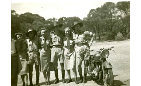 Orderly Room Staff of Australian Army Service Corps, Northam Camp, 1942. Women and men worked closely together. Most of the men were posted overseas. Courtesy Elsie Solly