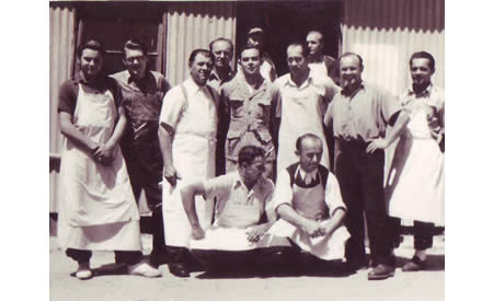Cooks at Top Camp, c 1950. Courtesy Brian Eaton