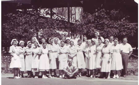 Top Camp Hospital Staff, c 1950. Courtesy Helena Sylwestrzak