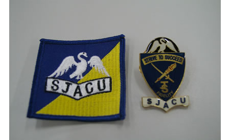 The hat badge and unit patch for the St Joseph's Army Cadet Unit (SJACU) based in Northam. At the time the unit was 1 of only 4 units in WA that had its own hat badge and the only unit in WA that had their own unit patch. Courtesy Mark Gargano, (Formerly) Captain (AAC), Officer Commanding St Joseph's Army Cadet Unit, Northam.