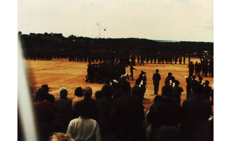 Guildford Grammar Cadets on parade at Northam, 1967. Courtesy Anne Rothes MacLeod