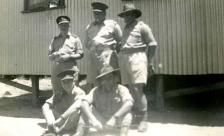 Officers, Northam Army Camp, 1942. Courtesy Elsie Solly