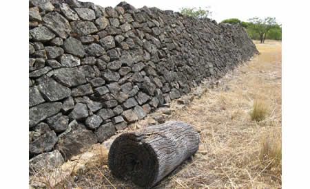 Parade ground wall.  Courtesy NACHA, 2010.