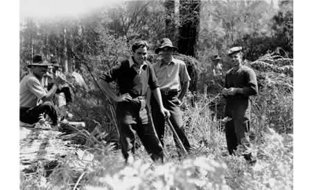 Italian POWs at work in Northcliffe, 1946.  Online image 009474D. Courtesy the State Library of Western Australia.