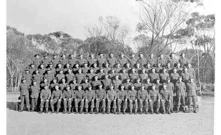 Fifth Reinforcements of the 2/32nd Battalion, Northam Camp, May 1941. Courtesy Ted Brindle