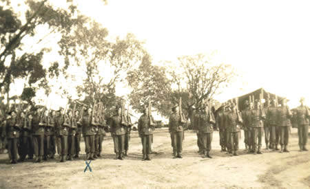 2/32nd Battalion Reinforcements on parade, Northam Camp, 1941. Courtesy Ted Brindle