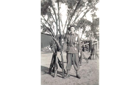 Ted Brindle in parade dress, Northam Camp, 1941. Courtesy Ted Brindle