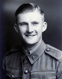 Private Edwin (Ted) Brindle portrait