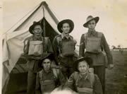 Soldiers in full kit, c. 1943. Credit: Gildersleeve.